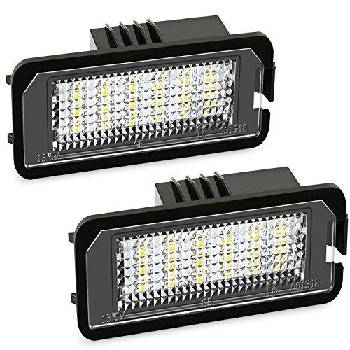 LED Kennzeichenbeleuchtung High Power weiß 6000K für VW Lupo Bj 1999-2006
