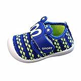 Bonjouree Chaussures Souples Bebe Garçon Fille Squeaky Sneaker Chaussures Premiers Pas D'Été (20 EU, Bleu)