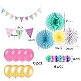 Mix Pastell Party Dekoration Papier Hängedekoration Rosa Gelb - 2