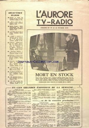 AURORE TV RADIO (L') du 19/02/1979 -...