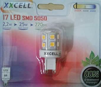 Xxcell - Ampoule LED XXCELL G9 PHOSPHORE BI-PIN 2W 140Lm 4000K