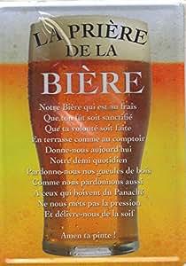 Plaque metal serigraphi e 15x21cm l a pri re de la bi re for Maison de la biere reims