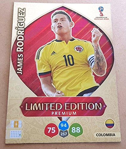 Adrenalyn XL FIFA World Cup 2018Rusia–James Rodriguez Premium tarjeta de comercio de edición limitada–Colombia