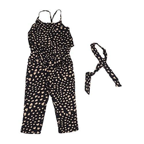TININNA Body Bébé Fille Combinaison Grenouillère en Bretelles Jumpsuits à la Mode avec Pattes 2 Ans