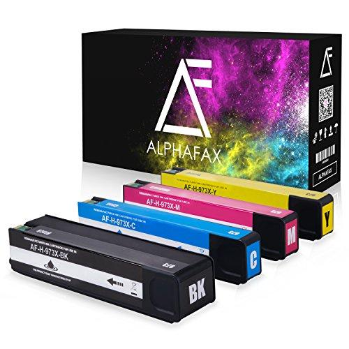 4 Alphafax Tintenpatronen kompatibel zu HP 973X für PageWide Pro 452dn 452dw 452dwt 477dn 477dw 477dwt 552dw 577dw 577z -
