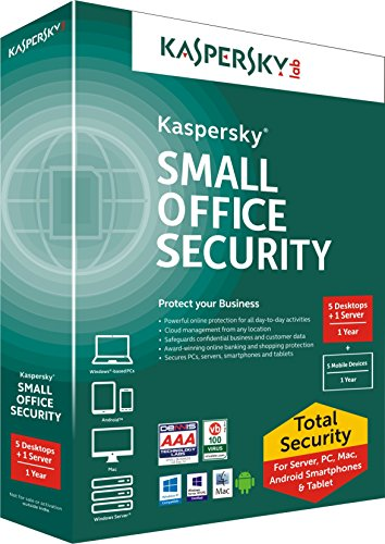Kaspersky Small Office Security 2018- 5 PCs, 1 File Server, 1 Year (CD) + 5 Mobile Devices