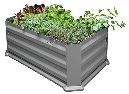 Eider Landgeräte GmbH Koll Living Jardinière surélevée/semis pour terrasse ou Balcon, 50 x 80 x 30 cm