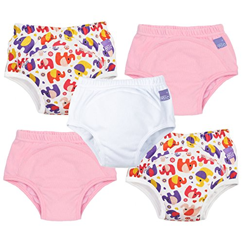Bambino Mio, Trainingshose, Mädchen Mixed, Elefant pink, 18-24 Monate (5er Packung)