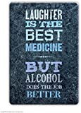 Funny Humorous 'Laughter Is The Best Medicine' Novelty Fridge Magnet