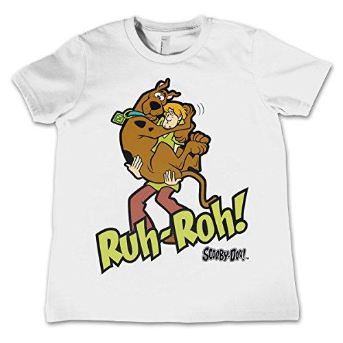 Offizielles Lizenzprodukt Scooby Doo Ruh-Ruh Unisex Kinder T-Shirt - Weiß 5/6 Jahre