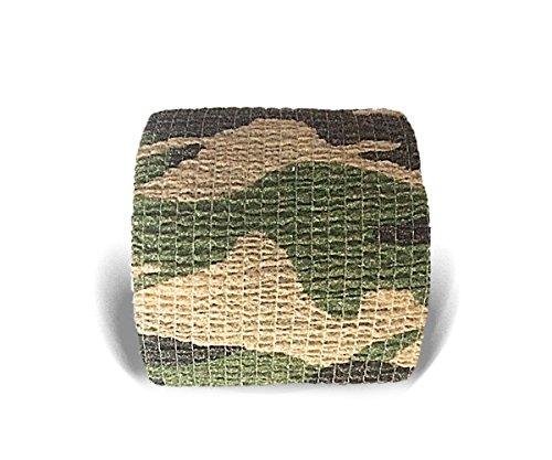 LisaCare Kohäsive Bandage Fixierbinde Selbsthaftend Elastisch - 2er Set - 5cm Breit x 4,5m dehnbar Camouflage Musterung Tarnfarbe
