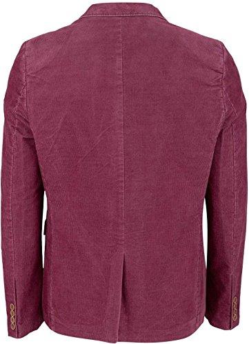 YAKE by S.O.H.O. NEW YORK Sakko Herren Slim Fit - Blazer Herren Sportlich - Cord Jacke, Brighton Bordeaux_001