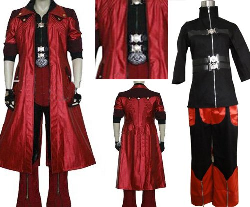 Devil May Cry 4 Dante Cosplay Kostüm, Größe XXL:(175-180 (Kostüm Devil Cry Dante May)