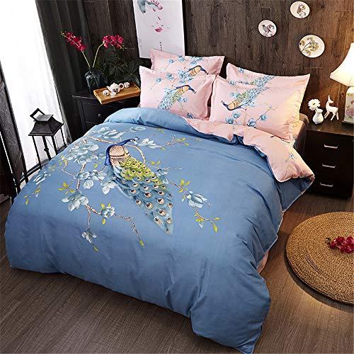 LWPTXDY Luxury Home Sanding Druck Vierteilige Bettwäsche Bettbezug Kissenbezug Bettwäsche Bettbezug Kissenbezug Color5 160X210Dreiteilige Bettbezug