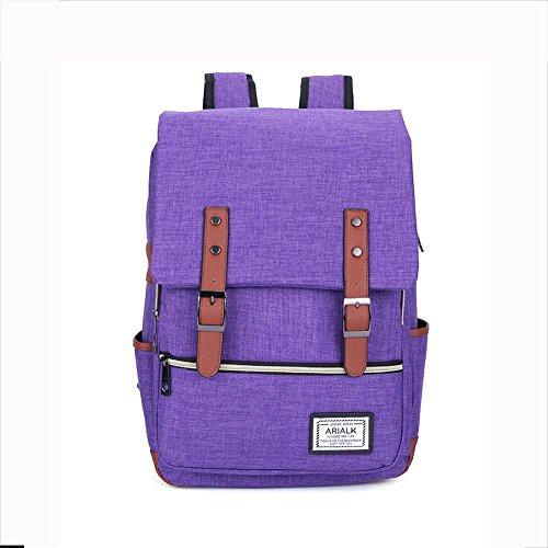 Imagen de rucksack  oxford tela impermeable 18 pulgadas portátil  para hombres y mujeres , purple
