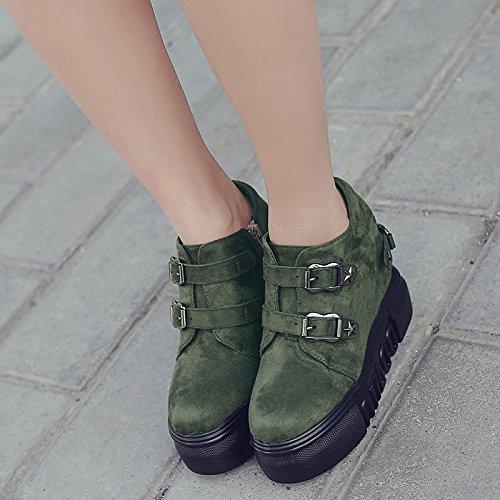 LvYuan Damen Stiefeletten / Wildleder / Büro & Karriere / Wedge Ferse / Comfort / Oxfords / Martin Stiefel / Outdoor Casual Flatform Schuhe Green