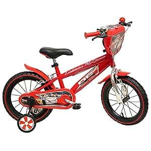 """Disney Cars Chrome Vélo Enfant Rouge 14"""""""