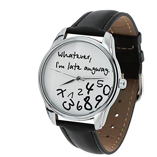 Zeigt originelle Armband Leder-Whatever, I am Late Anyway (Armband Zeigt)