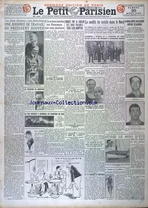 PETIT PARISIEN DERNIERE EDITION DE PARIS 5 HEURES (LE) [No 19541] du 30/08/1930