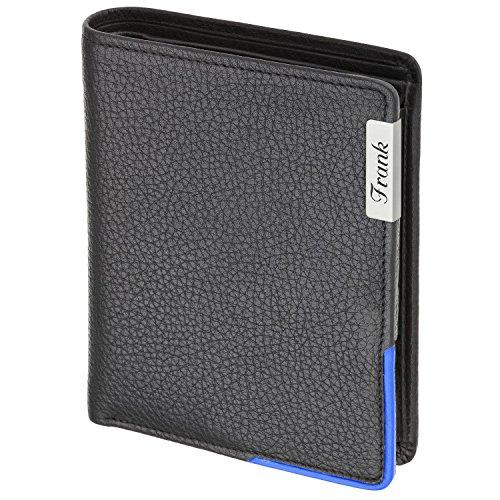 �rse mit Laser-Gravur aus weichem genarbtem Rindnappa Bicolor schwarz / blau Hochformat 13 x 11 cm ()