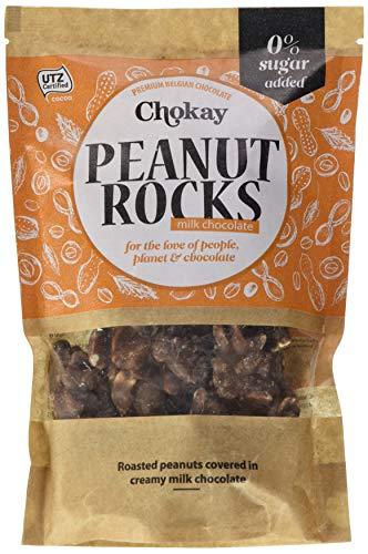 Chokay schokolade Cremige Belgischen Schokolade mit knusprig geröstete Erdnüsse, ohne Zuckerzusatz, 2er Pack (2 x 110 g)