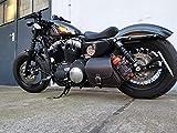 Dyna Clean Black & Orange Borsa a tracolla Harley Davidson HD Dyna Glide Streetbob fino al 2017 Sportster Sporty Forty Eight 48 1200 883 Iron Roadster XL Street Bob Borsa in pelle Orletanos Biker Moto