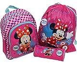 Spielwaren Klee Minni Maus Set 3 tlg Rucksack Turnbeutel Schlamperrolle Disney Minnie Mouse 3685
