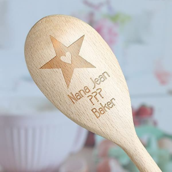 Star Baker Personalised Engraved Wooden Spoon