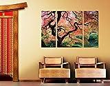 Apalis Leinwand Kunstdruck Leinwandbild Japanischer Garten Triptychon II, Leinwandbild, Leinwand Kunst, Kunstdruck, Leinwand, Kunstdruck auf Leinwand, Wand-Kunst