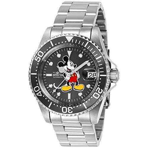 Invicta 24610 Disney Limited Edition - Mickey Mouse Reloj Unisex acero inoxidable Automático Esfera gris