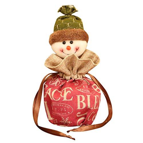 mann Schneemann Elk Weihnachten Süßigkeiten Verpackung Apple Box Dekoration (A, 12 * 30CM) (Apple-party Dekorationen)