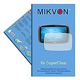 6x Mikvon SuperClear Displayschutzfolie für TomTom Go 610 World - unsichtbar - Made in Germany