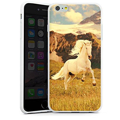 Apple iPhone X Silikon Hülle Case Schutzhülle Weißes Pferd Hengst Mustang Stute Silikon Case weiß