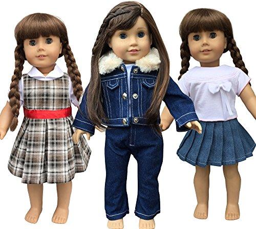 a-style-doll-clothes-for-american-girl-dolls-vestiti-per-bambola-4572-cm-18-tre-4572-cm-18-vestito-d