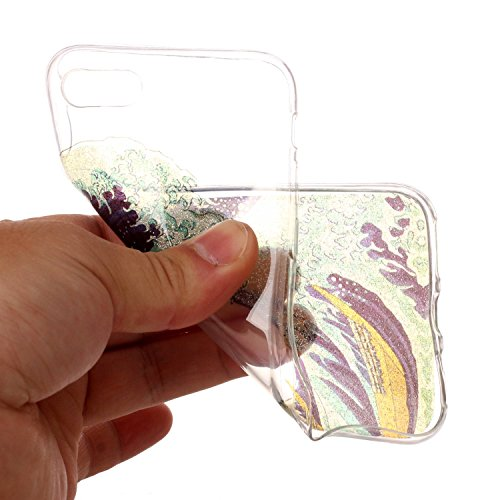 Linvei TPU Coque - pour Apple iPhone 7(4.7inch) Silicone Étui Housse Protecteur - Coloré Motif Design - Fleurs d'ananas Sea Waves