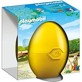 playmobil - 4944 - oeuf de pâques - Gardienne de Zoo et Alpaga