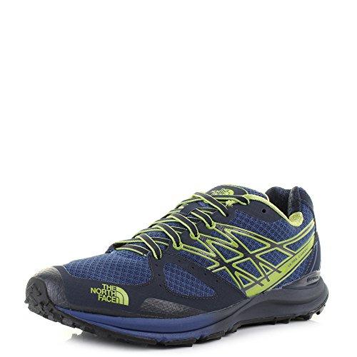The North Face M Ultra Cardiac, Zapatillas de Running para Hombre, Azul (Cosmic Blue / Macaw Green), 44 1/2 EU