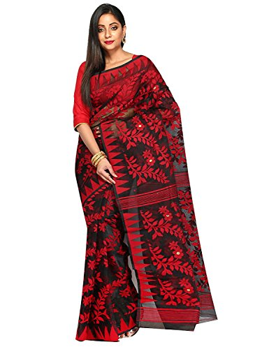 Tjsarees Handloom Silk Saree (Tj500046_Black_Free Size)