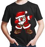 HARIZ  Jungen T-Shirt Dab Weihnachtsmann Nikolaus Weihnachten Dab Dabbing Trend Karneval Inkl. Geschenk Karte Schwarz 152/12-13 Jahre
