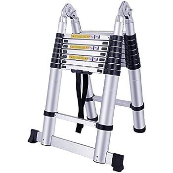 Capacit/é de charge 150 kg 5m pliante MCTECH /Échelle pliante t/élescopique en aluminium /Échelle multifonction 5 m