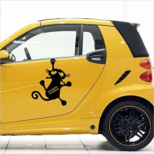 Katzen Auto Aufkleber,ca.30 cm Mod.Nr. 31 aus Hochleistungsfolie für Auto,Scheibe,Bad,Küche,Wandtattoo, für alle glatten Flächen - viele Farben zur Auswahl
