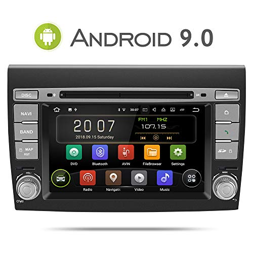 Aumume Android 9.0 Autoradio con Pantalla Táctil para FIAT/Bravo (2007-2012) con Sat...