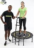 JOKA FIT Fitnesstrampolin mit Haltegriff Cacau, großem Spassfaktor, Minitrampolin mit Gummiseilfederung incl. Trainings-DVD