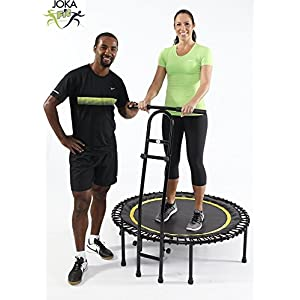 JOKA FIT Fitnesstrampolin mit Haltegriff 1.0, großem Spassfaktor, Minitrampolin mit Gummiseilfederung
