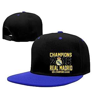 Trithaer 5.Euro Football League Champion Real Madrid CF Baseball Cap Hip-pop Red