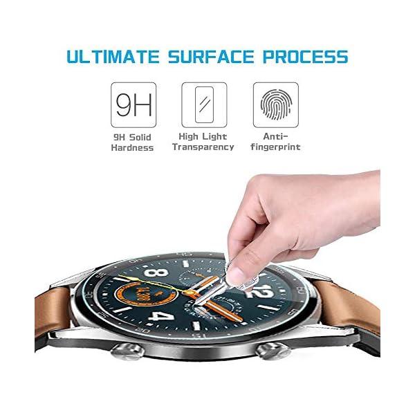 Ferilinso Protector de Pantalla para Huawei Watch GT, [4 Pack] [Vidrio NO Templado] Protector de Pantalla de Repuesto de Alta sensibilidad Full Coverage 3D Pet Película 4