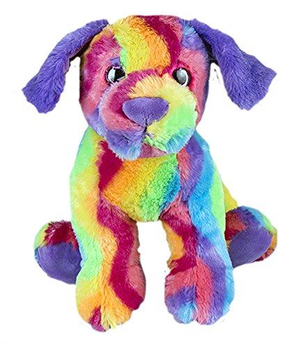 Stuffems Toy Shop Kuschelige 8-Zoll-Stuffed Regenbogen-Hund .Wir Sachen 'em .Sie lieben' em! -