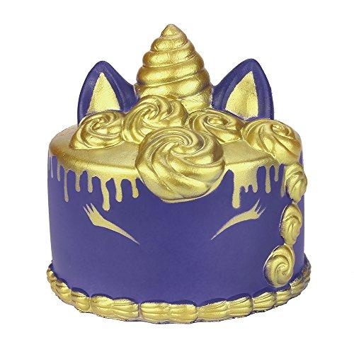 Simulation langsames Abprallspielzeug 1 Stück, Malloom Kawaii Cartoon Unicor Kuchen Squishy langsam steigende Creme duftende Stressabbau Spielzeug