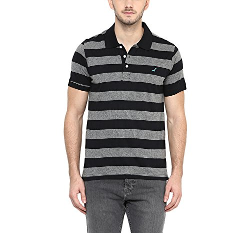 American-Crew-Mens-Polo-Collar-Stripes-T-Shirt