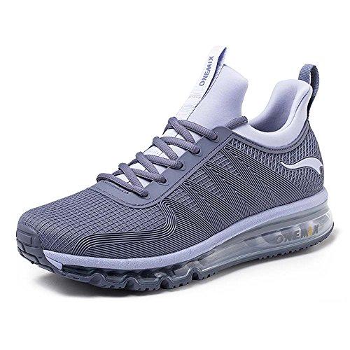 Onemix Air Deportes Zapatillas De Running para Hombre Aire Libre Respirable Zapatos para Correr Gris Plateado 41 EU